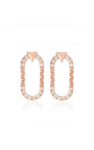 Energy 18K Rose Gold Diamond Earrings