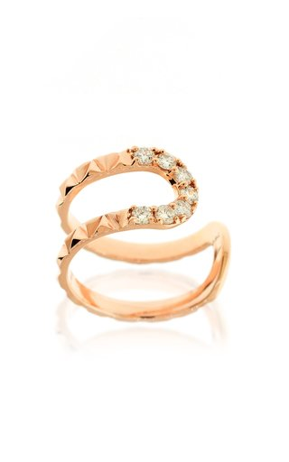 Small Connect 18K Rose Gold Diamond Ring