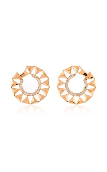 Force 18K Rose Gold Diamond Earrings