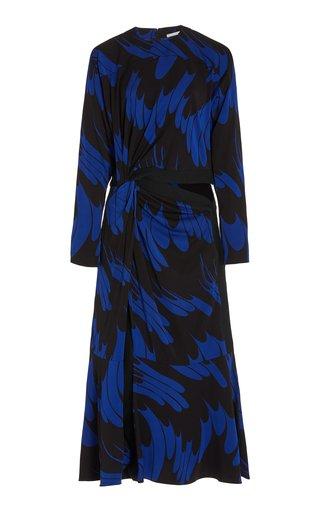 Magnolia Cutout Printed Crepe Maxi Dress