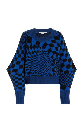 Geometric-Patterned Wool-Blend Sweater