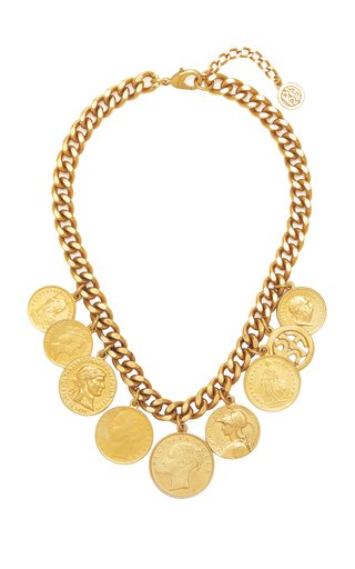 Gold-Plated Coin Necklace