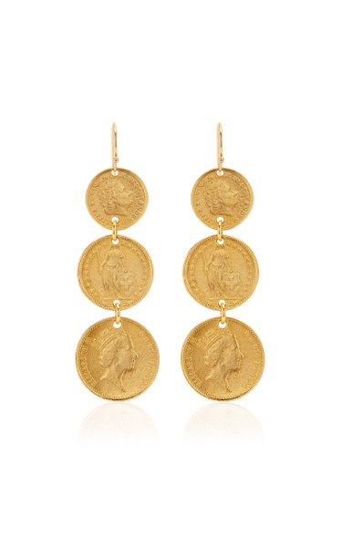 Gold-Plated Coin Earrings