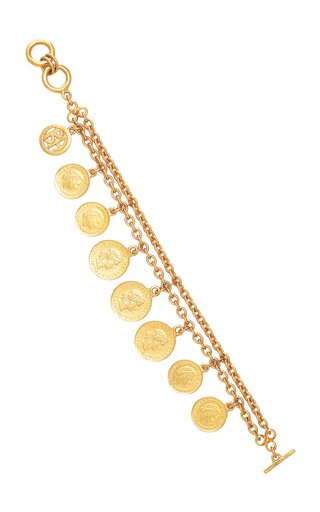 Gold-Plated Coin Bracelet
