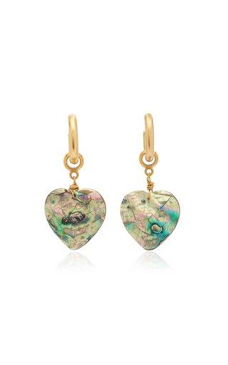 Big Love 24K Gold-Plated Abalone Hoop Earrings