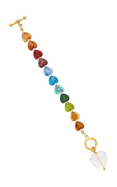 Shine On 24K Gold-Plated Glass, Pearl Bracelet