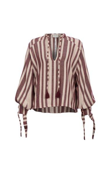 Paraiso Handwoven Striped Cotton Top