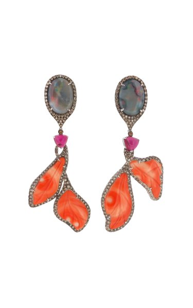 Coral in Deco Earring