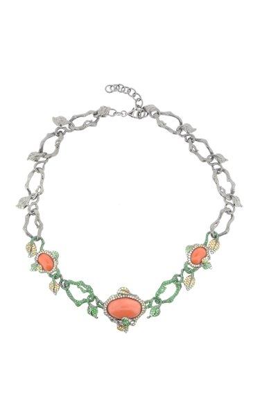 18K White Gold Multi-Stone Necklace