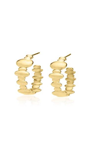Droplet Pixie 18K Yellow Gold Hoop Earrings