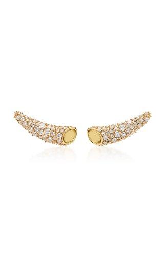 Icon Horn 18K Yellow Gold Diamond Earings