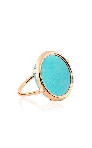18k Rose Gold Amazonite Disc Ring