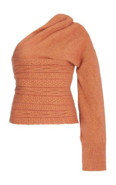 Loretto Asymmetric Angora-Blend Sweater