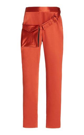 Michler Silk-Satin Cigarette Pants