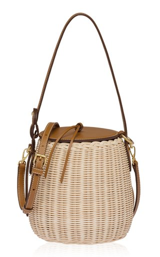 Midollino Leather-Trimmed Shoulder Bag