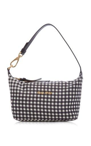Mini Gingham Faille Shoulder Bag