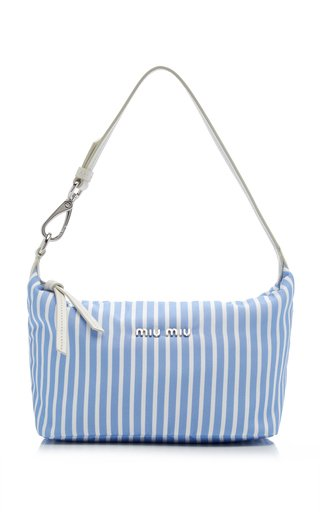 Mini Striped Faille Shoulder Bag