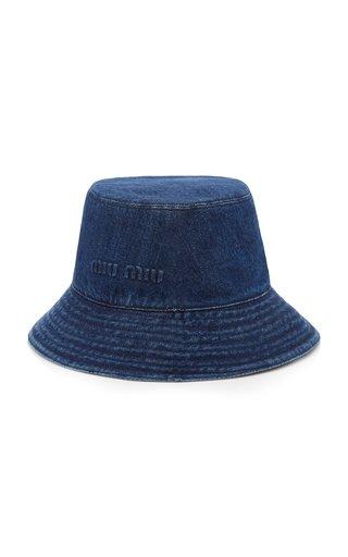Logo-Detailed Denim Bucket Hat
