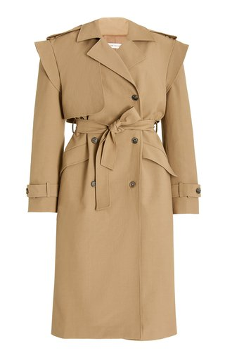 Oversized Cotton-Blend Trench Coat