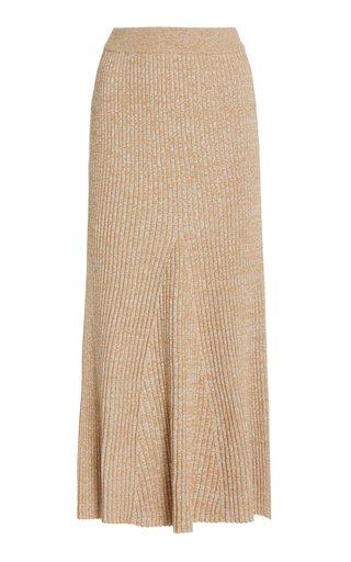 Liv Ribbed-Cotton Midi Skirt