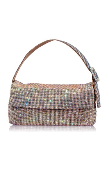 Vitty Grande Crystal-Embellished Shoulder Bag