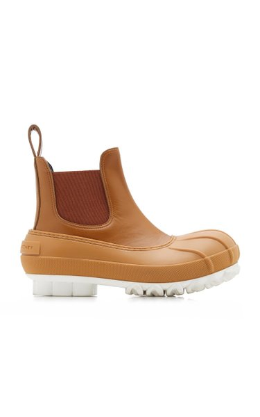 Chain Sole Vegan Leather, Rubber Boots