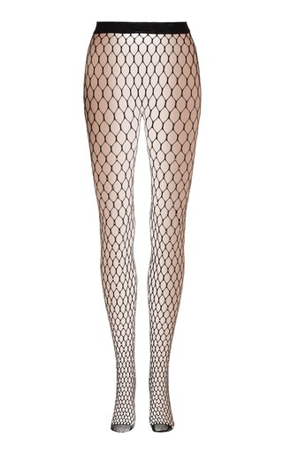 x Wolford Crystal-Embellished Netted Tights
