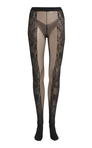 x Wolford Split Lace Tights