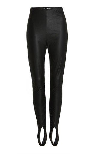 x Wolford High-Rise Vegan Leather Stirrup Leggings