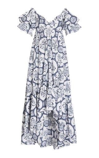 Raquira Off-The-Shoulder Poplin Maxi Dress