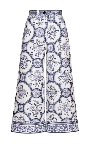Robledo Printed Cotton-Blend Culotte Pants