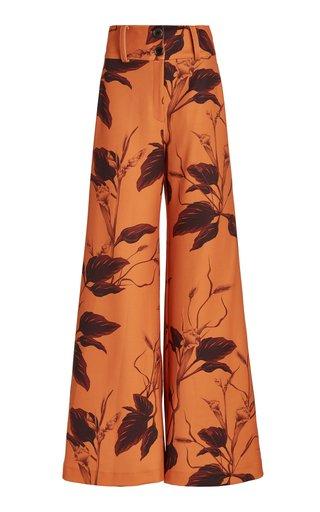 Llanero Printed Crepe Wide-Leg Pants