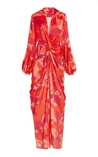 Hechizos Satin-Crepe Maxi Dress