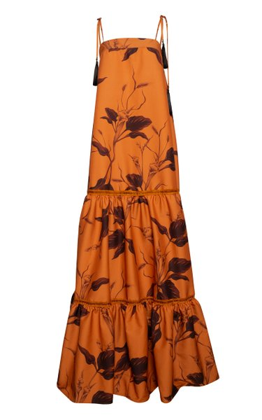 Campanero Printed Poplin Maxi Dress