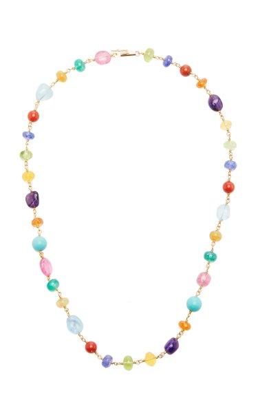 Spun Sugar 22k Yellow Gold Multi-Stone Necklace
