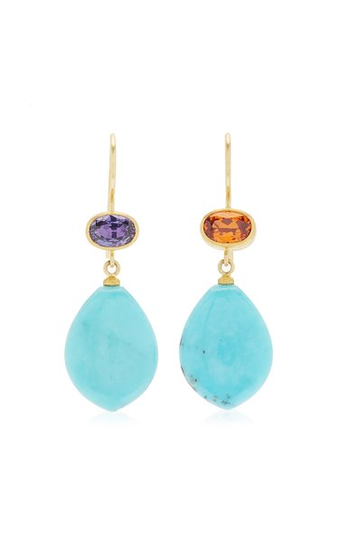 Apple and Eve 22K Yellow Gold Multi-Stone Earrings