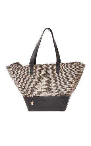 Moda Exclusive: Jackie Raffia and Leather Tote Bag