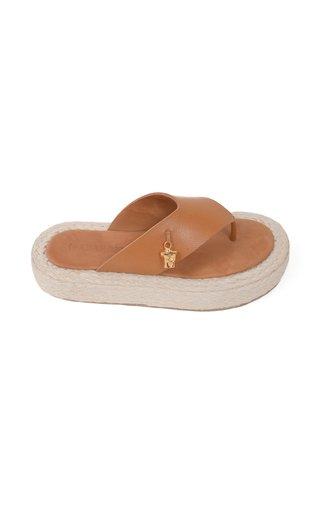 Moda Exclusive: Raffia and Leather Sandals