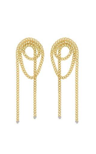 Unchain My Art 18K Yellow Gold Diamond Earrings