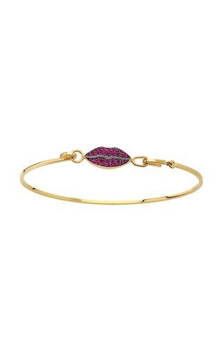 18K Yellow Gold Grandma Lips Bracelet