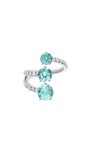One Of A Kind 18K White Gold Paraiba Ring