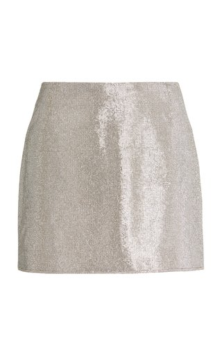 Camille Rhinestone Mini Skirt