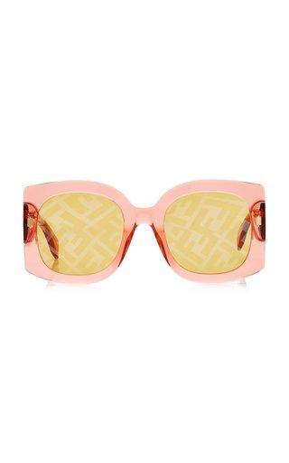 Roma Oversized Logo-Lens Square-Frame Acetate Sunglasses