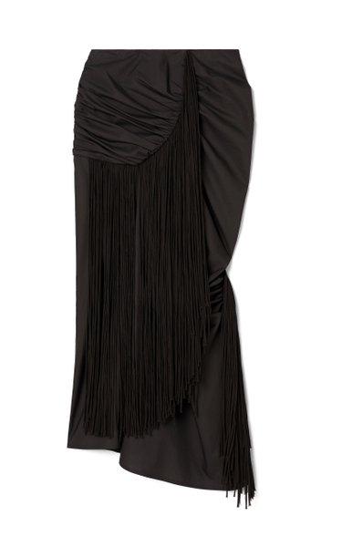 Fringed Chiffon Wrap Skirt