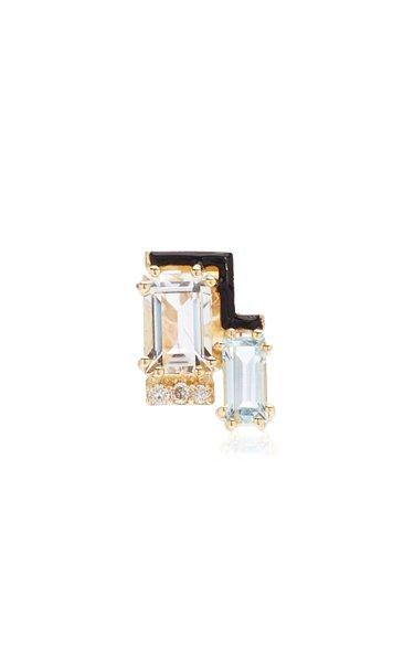 Jolly 14K Yellow Gold Multi-Stone Single Earring