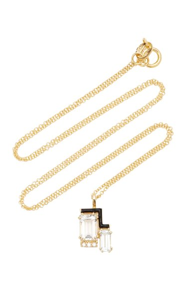 Jolly 14K Yellow Gold Multi-Stone Necklace