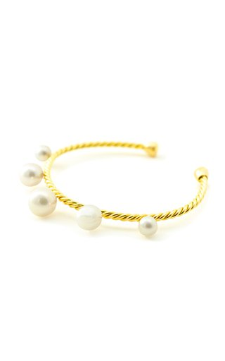 18K Gold And Pearl Cuff