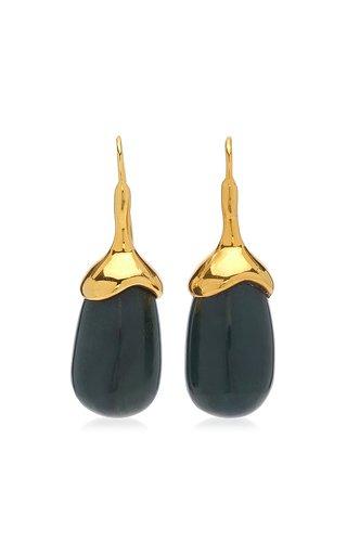 18K Gold Vermeil Jade Earrings