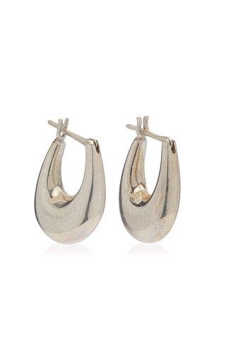 Small Etruscan Sterling Silver Hoop Earrings