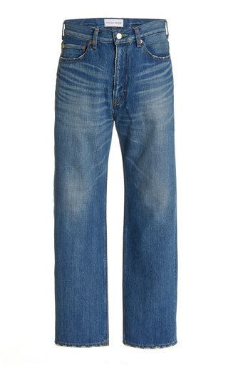 Emerald Rigid High-Rise Cropped Straight-Leg Boyfriend Jeans